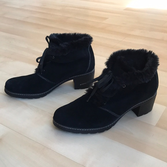 Black Sporto Suede Leather Ankle Boots